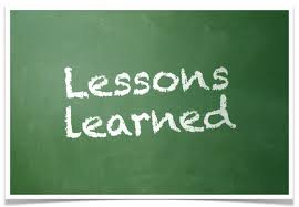 Lessons Leaned