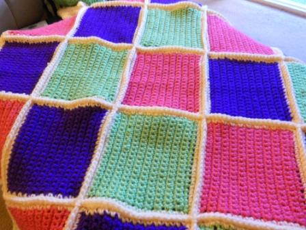Pink Squared Baby Blanket