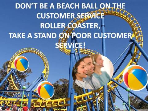 A Beach Ball on the Customer Service Roller Coaster