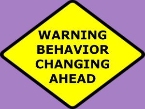 Behavior changing